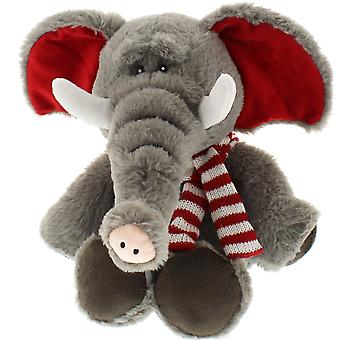 30cm sittande elefant med halsduk mjuk leksak