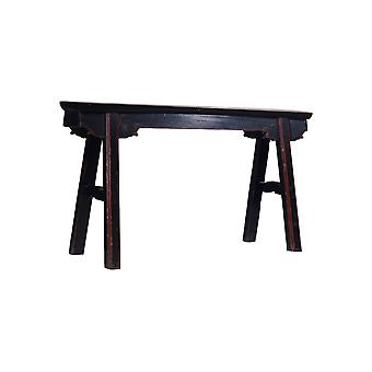 Fine Asianliving Antikke kinesiske Bench Black Red - Shanghai, Kina