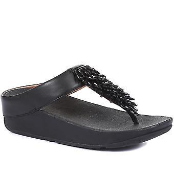 FitFlop Womens Rumba Pärl toe-post sandaler