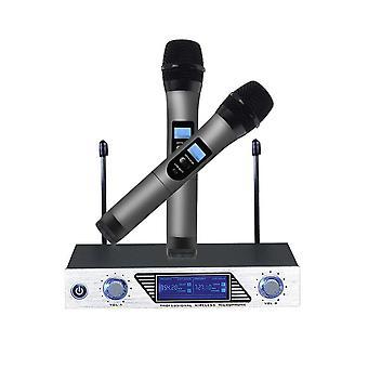 Système de microphone sans fil VHF Accueil KTV Ensemble de microphones portables pour le karaoké de conférence