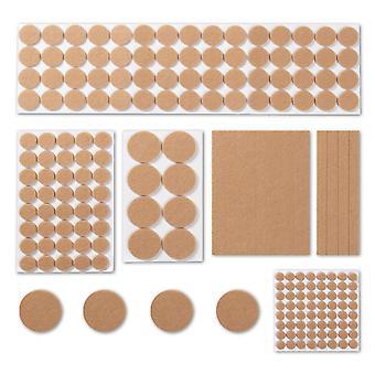 Tampons protecteurs de meubles en feutre | Crème Pukkr(Crème)