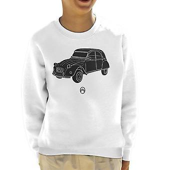 Citroen 2CV vinkel för lätt barns sweatshirt