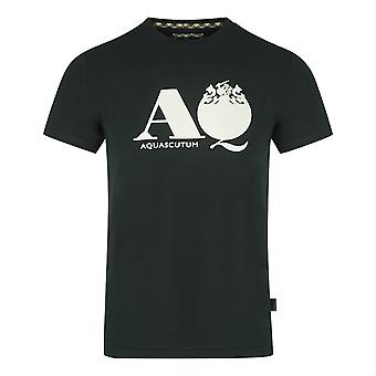Aquascutum AQ Logo Svart T-Shirt