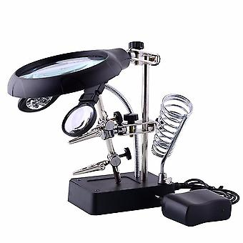 Heat guns led clamp soldering iron stand helping hands magnifying glass