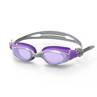 SwimTech Quantum Senior Adults Swimming Pool Water Goggles Silver/Purple