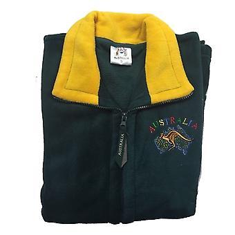Australia full zip fleecy jumper jacket australian day aussie souvenir fleece