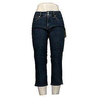 NYDJ Kvinners Kule Omfavne Skinny Beskårne Jeans m / Side Slits Blå A377692