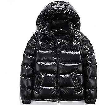Shiny Down Jacket Men's Winter Jacket Stand Collar Down Jacket With Hood Xmas Gift