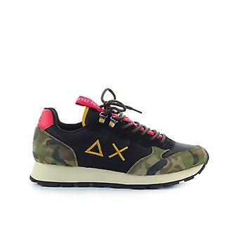Sun68 Tom Goes Camping Black Camouflage Sneaker