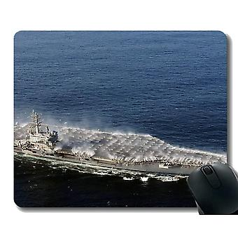 Mouse pads 220x180x3 mouse pad with stitched edge military uss ronald reagan cvn 76 warship non-slip rubber