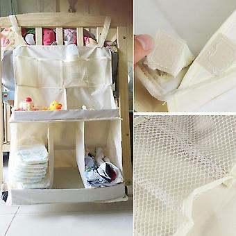 Multi Compartment Hanging Bag Stereo Waterproof Storage Bag Baby Bed Accessory