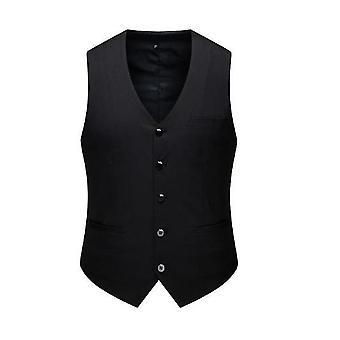 Men's Top Proiectat V Gât Fără Mâneci Casual Slim Fit Skinny Dress Vest