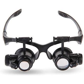 Headband Magnifier 10x 15x 20x 25x Jewelers Loupe Led Illumination