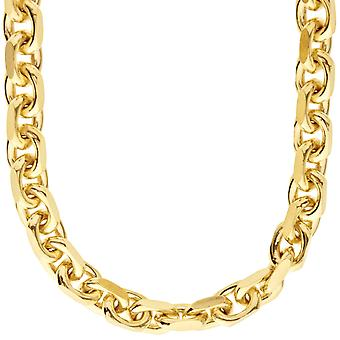 925 sterlinghopea ketju - ankkuri 8 mm kulta