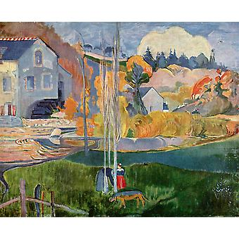Paul Gauguin - Landscape with Water Poster Print Giclee
