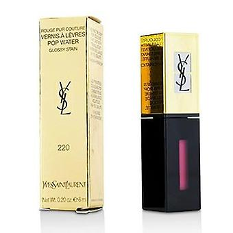 Yves Saint Laurent Rouge Pur Couture Vernis A Levres Pop Water Glossy Stain - #220 Nude Steam - 6ml/0.2oz