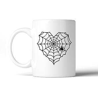 Hjertet Spider Web morsomme Kaffekrus 11oz hvite keramiske krus gaver