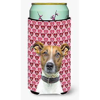 Isolante Tall Boy Beverage cuori amore e San Valentino Jack Russell Terrier