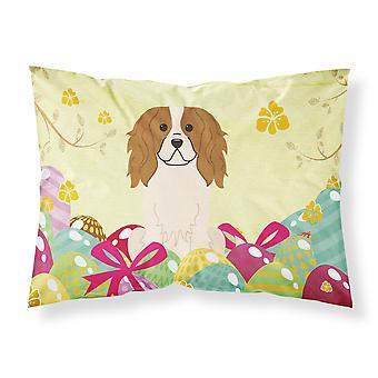 Easter Eggs Cavalier Spaniel Fabric Standard Pillowcase