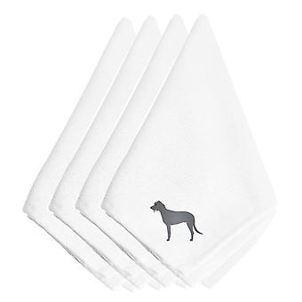 Carolines Treasures  BB3403NPKE Irish Wolfhound Embroidered Napkins Set of 4