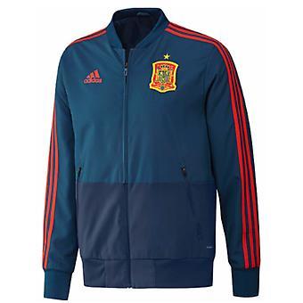 2018-2019 Spanien Adidas Presentation Jacket (blå)