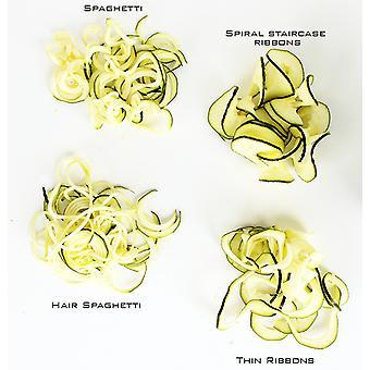 Spiralina-zeleninový Spiraliser-4 nastavovací nástroje-špagety/julienne a spirála fréza pro míchačku smažené saláty nebo těstoviny D