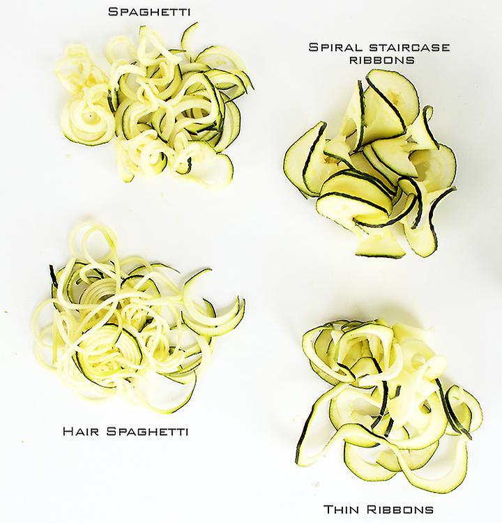 Spiralina - Vegetable Spiraliser - 4 Setting Tool Spaghetti / Julienne and Spiral Cutter of Vegetables for Stir-fries Salads or Pasta D