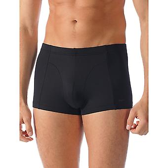 Mey 42527-123 Men's Software Black Solid Colour Fitted Boxer