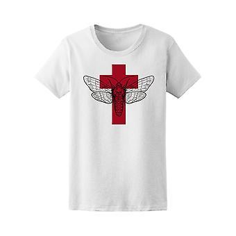 Rotes Kreuz Motte T-Shirt Frauen-Bild von Shutterstock