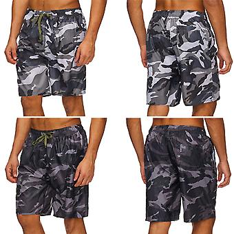 Mens Camouflage Swimsuit Shorts Short Military Shorts Army Camouflage Sport