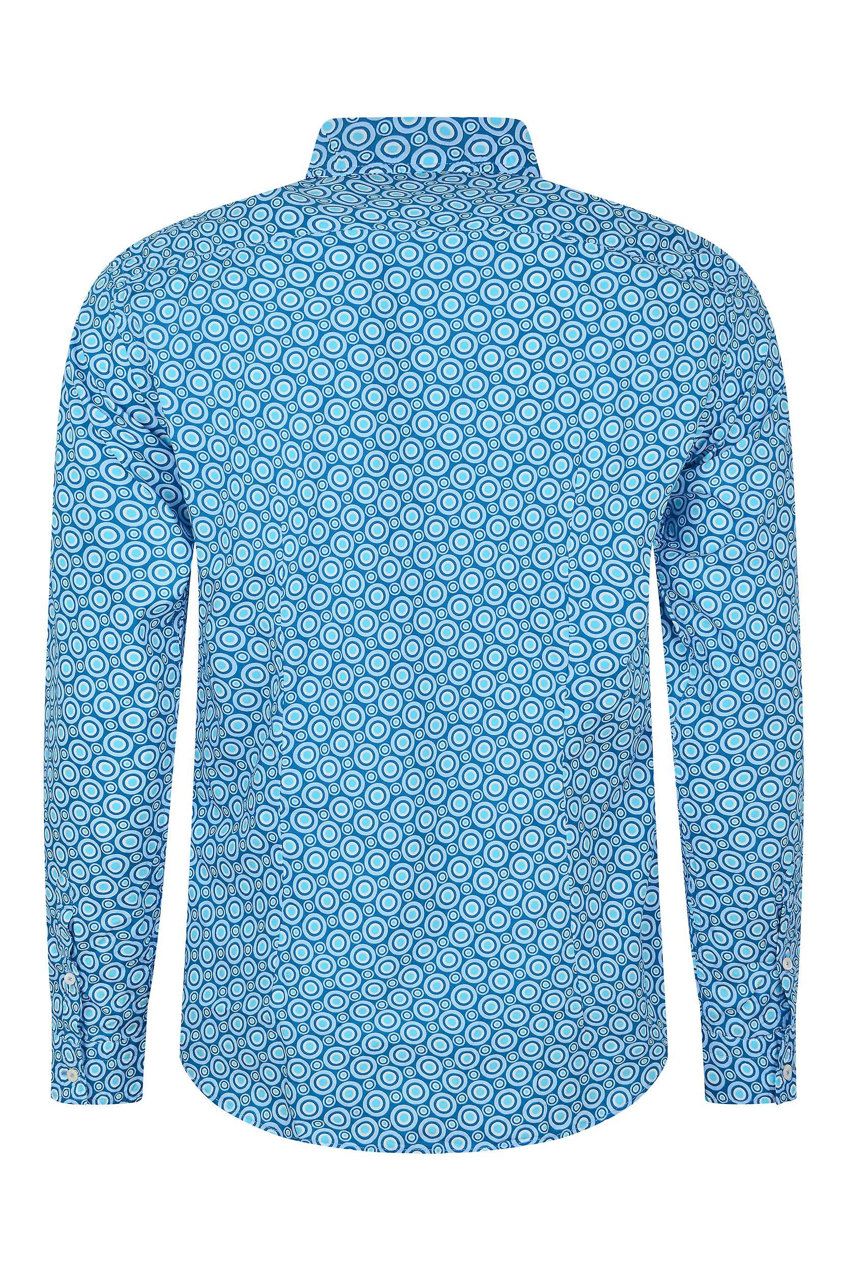 Fabio Giovanni Ribezzo Shirt - Mens Italian Casual Stylish Bold Pattern Shirt - Long Sleeve