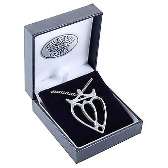 Luckenbooth Love heart Pewter Pendant