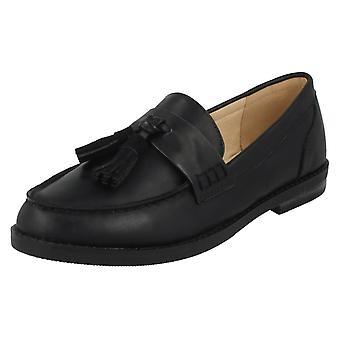 Ladies Spot On Tassel Trim Loafers F80312