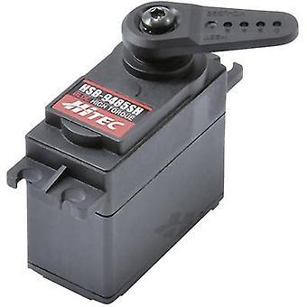 Hitec Standard servo HSB-9485SH Digital servo Gear box material: Steel nickel plated Connector system: JR