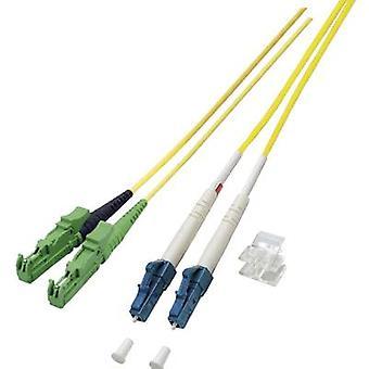 EFB Elektronik Fibreglass FOC Cable [1x E2000®/APC 8° stekker - 1x LC plug] 9/125 μ Singlemode OS2 2.00 m