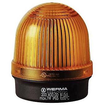 Werma Signaltechnik Light 200.300.00 geel non-stoplicht signaal 12 V AC, 12 V DC, 24 V AC, 24 V DC, 48 V AC, 48 V DC, 110 V AC, 230 V AC