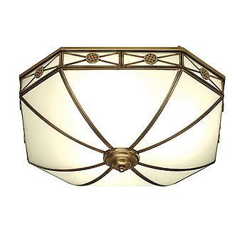 Interiors 1900 Bannerman White Frosted Tiffany Flush Dome Light