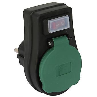 Prise avec interrupteur un 3680 watts IP44 / arrêt avec protection de l'enfance pour extérieur & intérieur