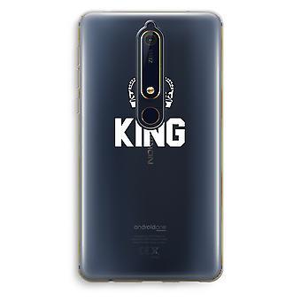 Nokia 6 (2018) boîtier Transparent (doux) - King noir