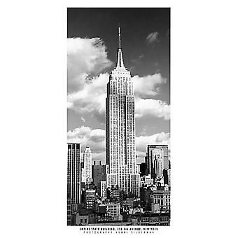 פוסטר בניין אמפייר סטייט הדפס על ידי אנרי סילברמן (9 x 19)