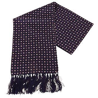 Sciarpa di seta Aviator diamante di Knightsbridge cravatte - Navy