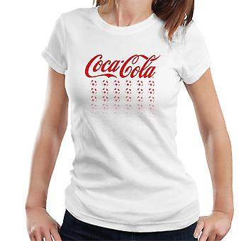 Official Coca Cola Football Red Multi Balls Women's T-Shirt