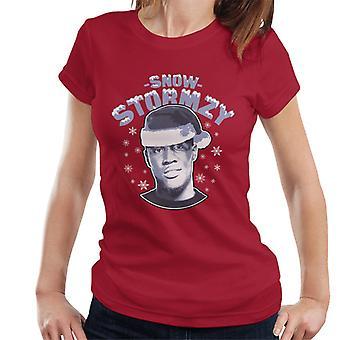 Sneeuw Stormzy voetbal kerst Women's T-Shirt