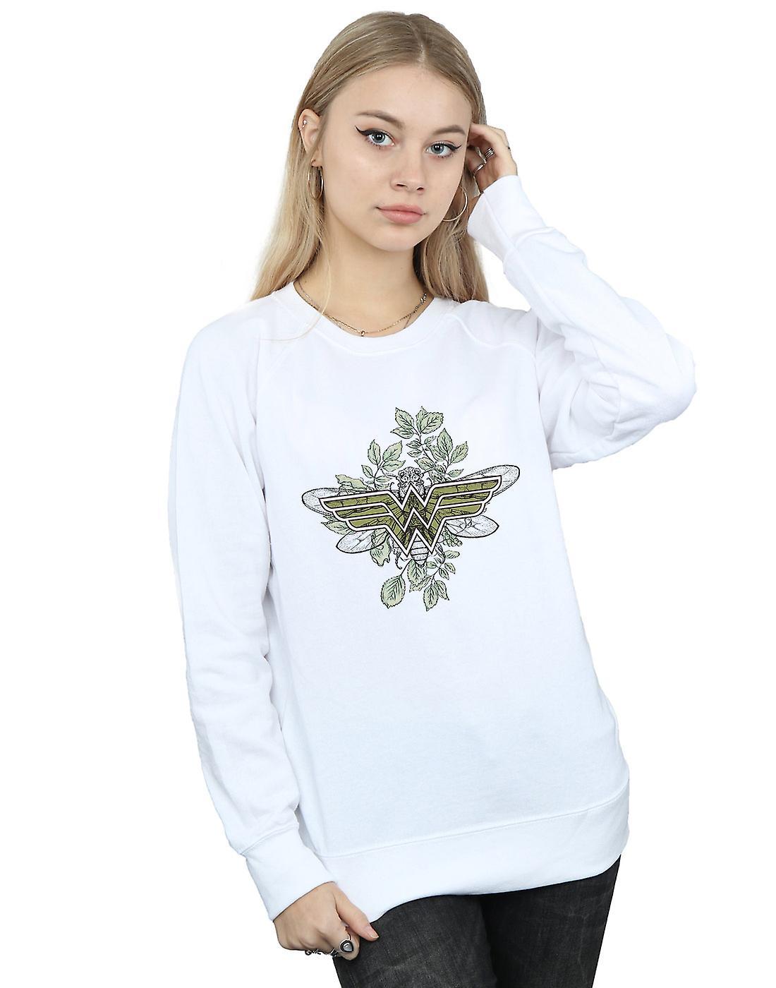 DC Comics Women's Wonder Woman Butterfly Logo Sweatshirt