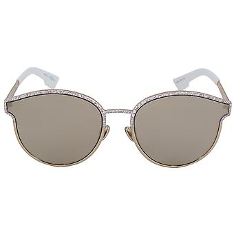 Christian Dior Symmetric Sunglasses GBZQV 59 | Gold Frame | Gold Mirrored Lenses
