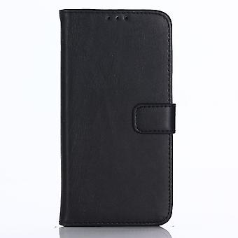 LG Q6/Q6 Plus Retro Wallet Case-Black