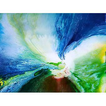 اللوحة الزيتية التجريدية، 90x120 سم اليد رسمت 003318080875627