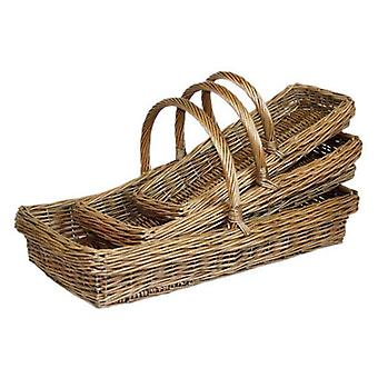Set of 3 Kew Garden Trug Baskets