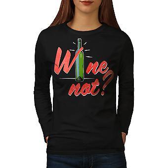 Wine Party Funy Women BlackLong Sleeve T-paita | Wellcoda, mitä sinä olet?