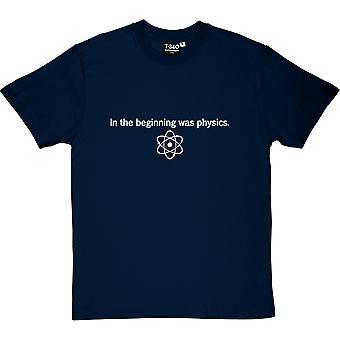 I början var fysik mäns T-Shirt